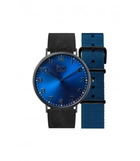 [Original] Ice Watch CHL.A.DUR.36.N.15 Ice City Durham Leather Blue Dial Analog Watch