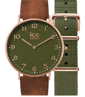 [Original] Ice Watch CHL.A.OAC.41.N.15 Ice City Oakwood Leather Analog Unisex Watch