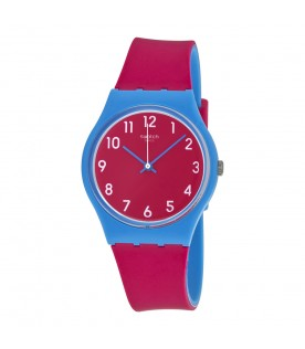 [Original] Swatch Lampone GS145 Pink Dial Pink Silicone Strap Analog Gent Genuine Watch