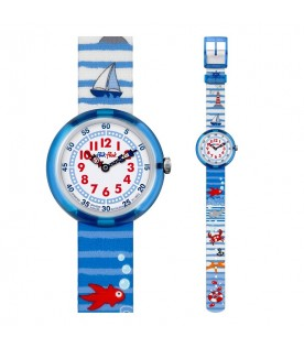 [Original] FlikFlak by Swatch ZFBNP020 Kids Fashion Textile Strap Quartz Analog Watch