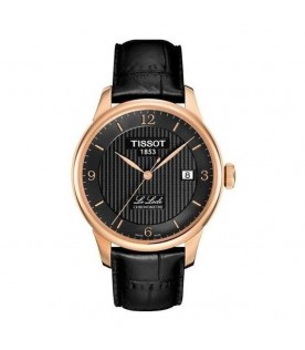 [Original] Tissot T006.408.36.057.00 Le Locle Chronometre MenBlack Leather Gold Watch
