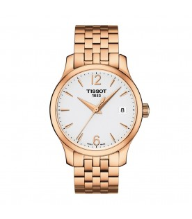 [Original] Tissot T063.210.33.037.00 T-Classic Tradition Ladies Stainless Steel Gold Analog Watch