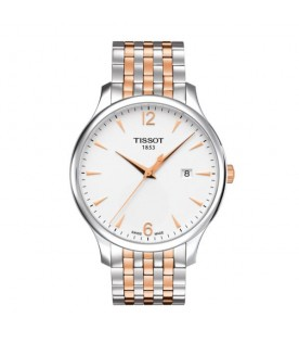 [Original] Tissot T063.610.22.037.01 T-Classic Tradition MenGold Tone Stainless Steel Watch