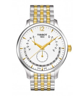 [Original] Tissot T0636372203700 Tradition Perpetual Calender Two Tone Gold MenWatch