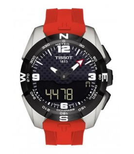 [Original] Tissot T091.420.47.057.00 T-Touch Expert Solar MenAnalog Digital Red Watch