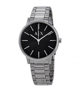 [Original] Armani Exchange AX2700 Stainless Steel Black Black Analog Men Formal Watch