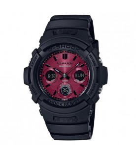 [Original] Casio G-Shock AWR-M100SAR-1A Solar Powered Black x Red Street Fashions Watch
