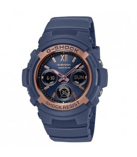 [Original] Casio G-Shock AWR-M100SNR-2A Solar Powered Navy x RoseGold Street Fashions Watch