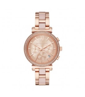 [Original] Michael Kors MK6560 Sofie Rose Gold Tone Chronograph Ladies Stainless Steel Watch
