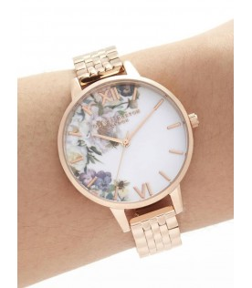[Original] Olivia Burton OB16EG135 Enchanted Garden Demi Rose Gold Bracelet Ladies Watch
