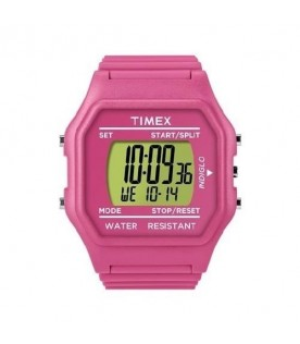 [Original] Timex T2N246 Classic Digital Unisex Pink Silicone Stopwatch Alarm Light Watch