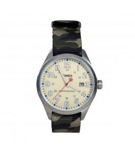 [Original] Timex T2N309D Originals Analog Nylon Green Camouflage Fashion Watch
