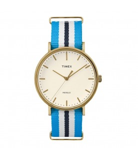 [Original] Timex TW2P91000 INDIGLO The Fairfield Casual Iconic Versatile Design Blue Nylon Watch